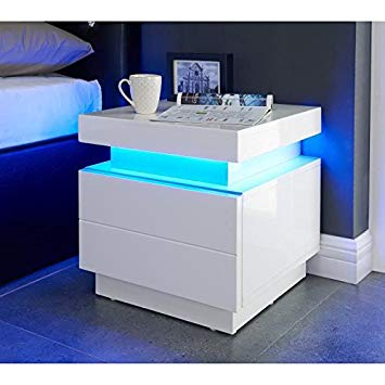 table chevet led
