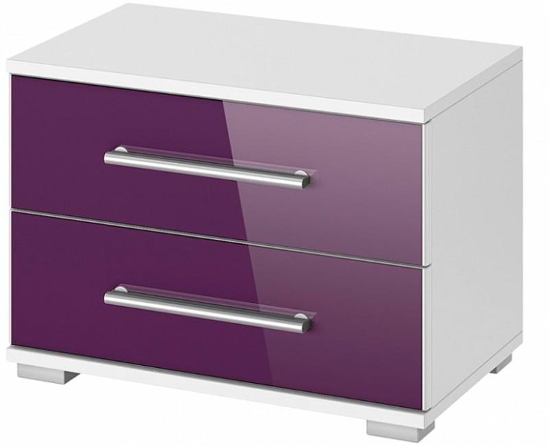 table de chevet violet