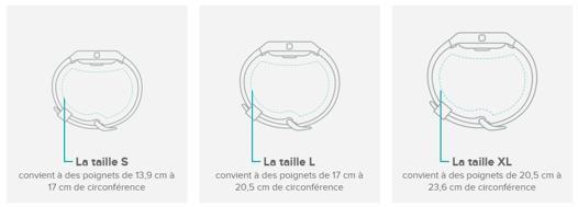 taille bracelet fitbit