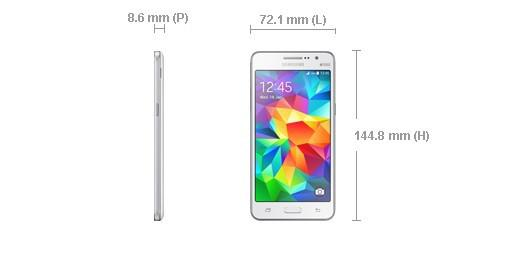 taille du galaxy grand prime