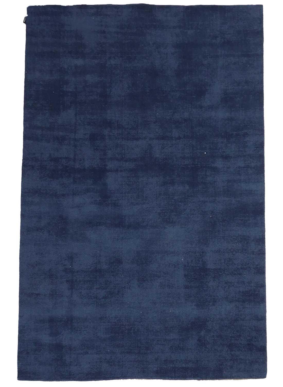 tapis laine bleu