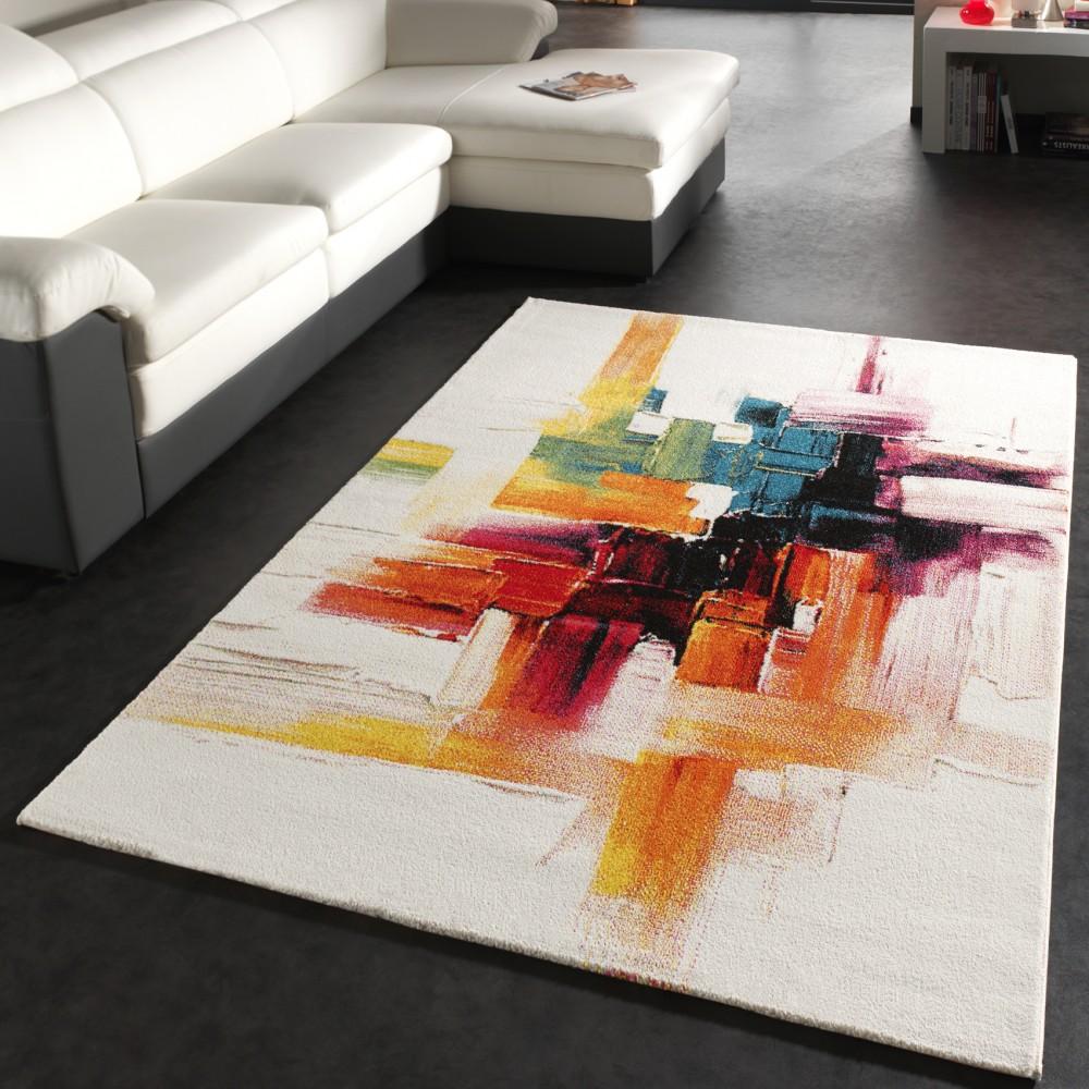 tapis moderne coloré