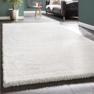 tapis shaggy blanc pas cher