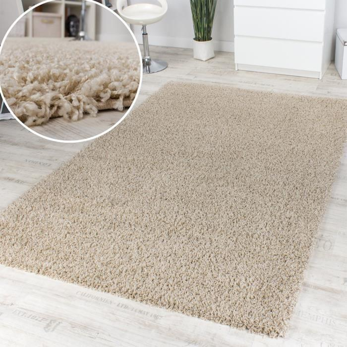 tapis shaggy soldes