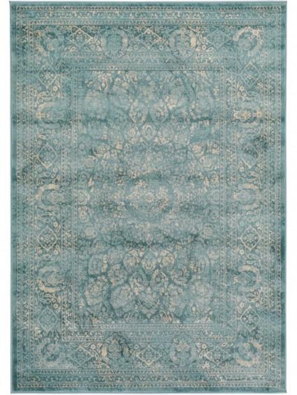 tapis vintage bleu