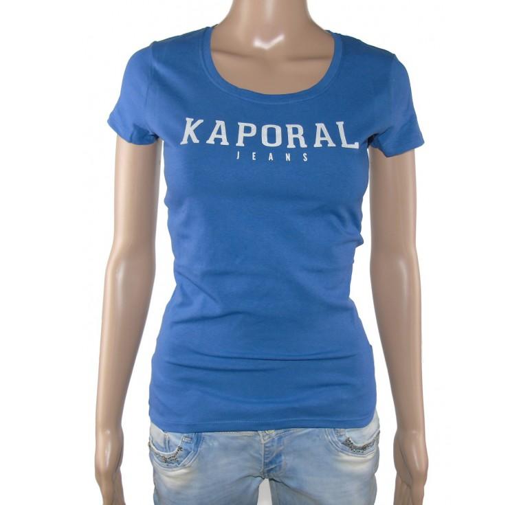 tee shirt kaporal femme bleu