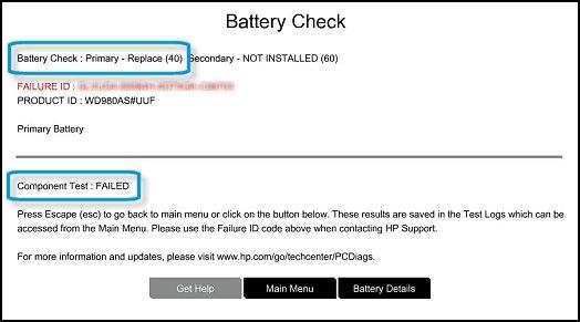 test batterie hp