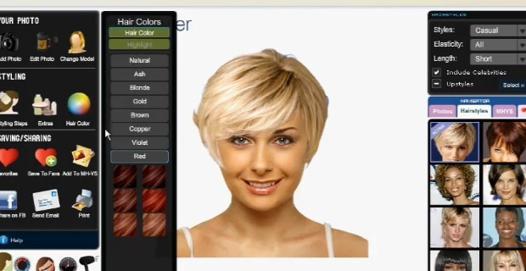test coiffure femme