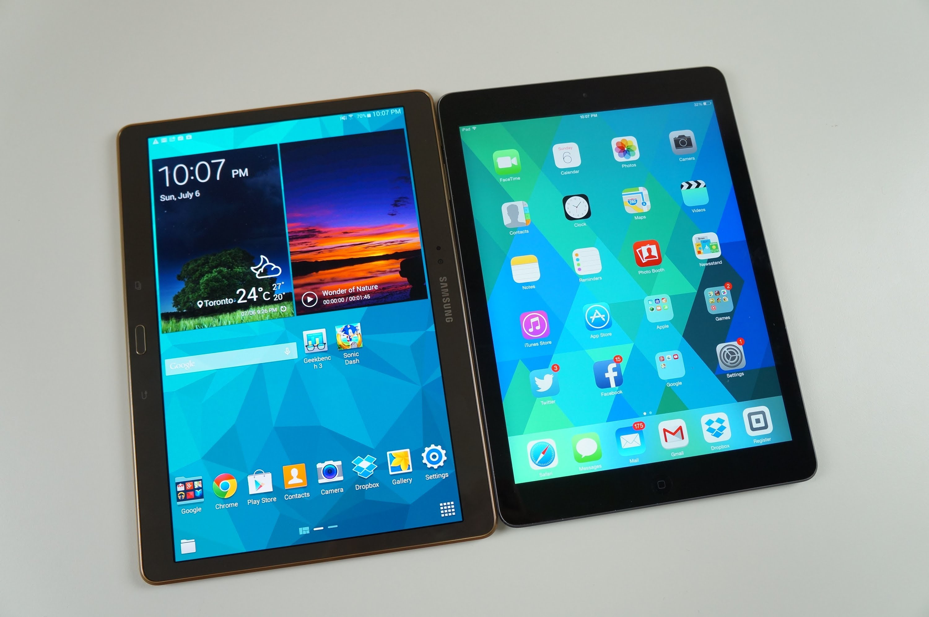 test galaxy tab s