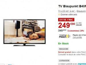 tv 40 pouces pas cher