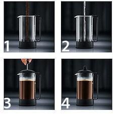utilisation cafetière à piston