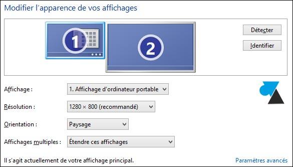 afficher ecran pc sur tv windows 10
