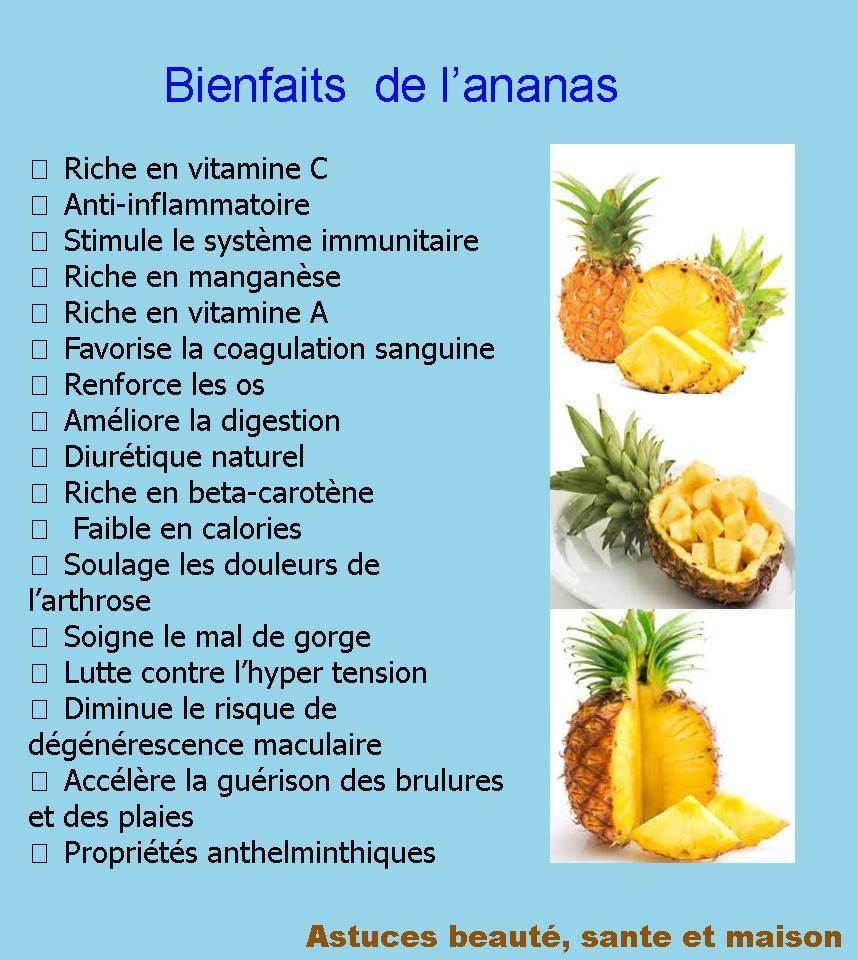 ananas bienfait