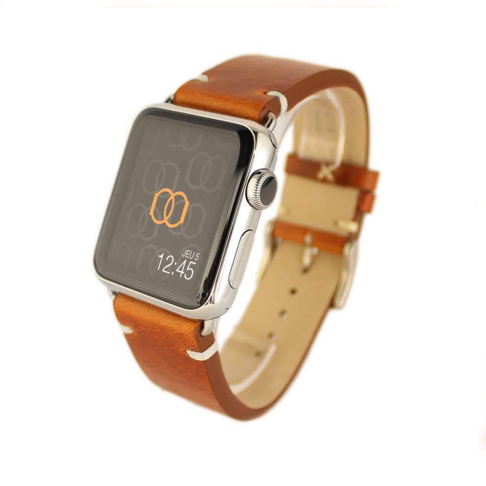 apple watch bracelet cuir