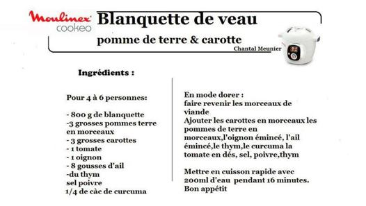 application cookeo recette