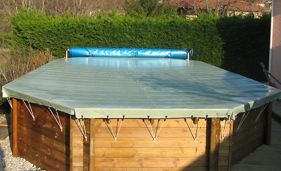 bache de protection piscine hors sol ronde