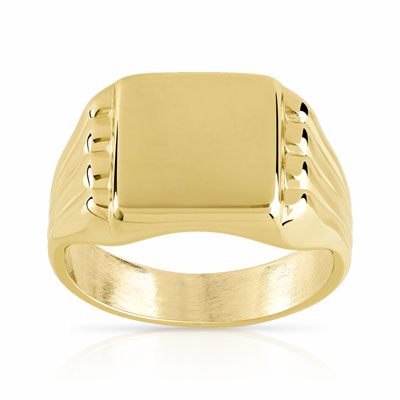 bague or homme