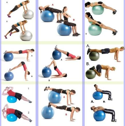 ballon pilates exercices