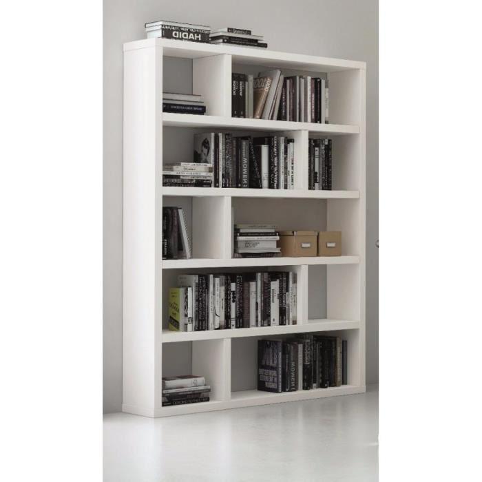 bibliothèque blanc laqué brillant