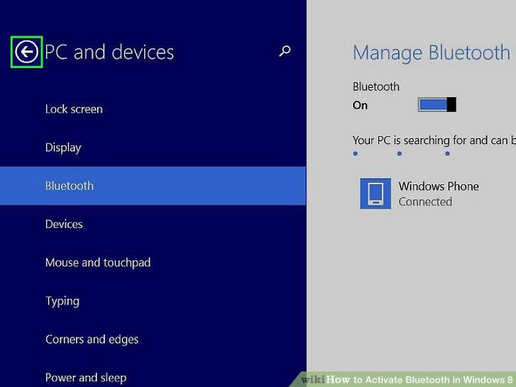 bluetooth windows 8