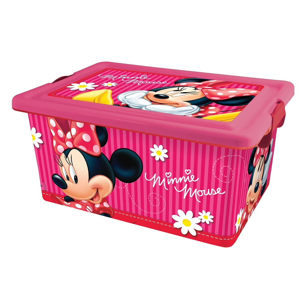 boite de rangement plastique minnie