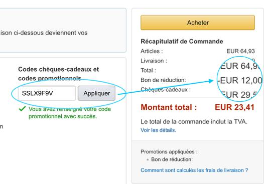 bon de reduction amazon