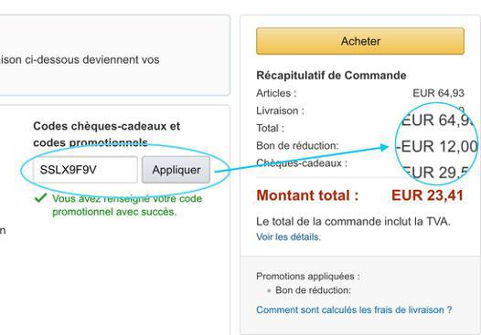 bon de reduction sur amazon