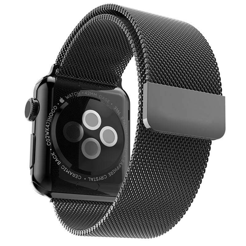 bracelet apple watch noir