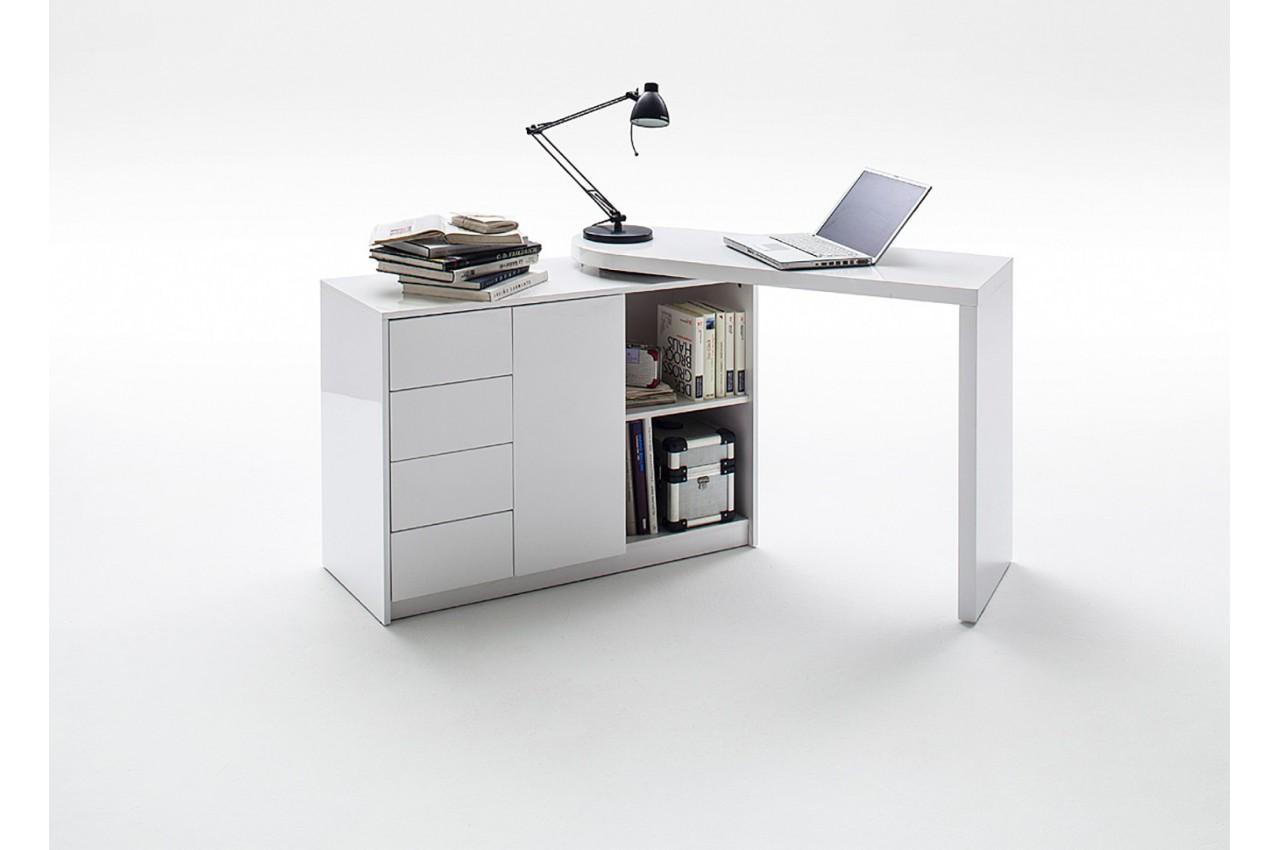 bureau avec plateau pivotant