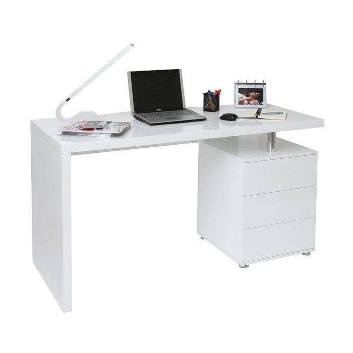 bureau blanc laqué