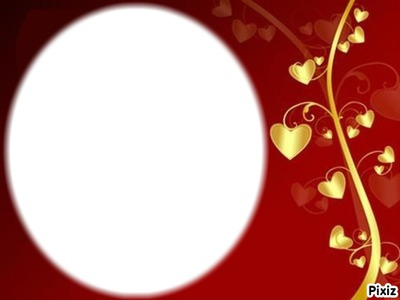 cadre photo coeur rouge