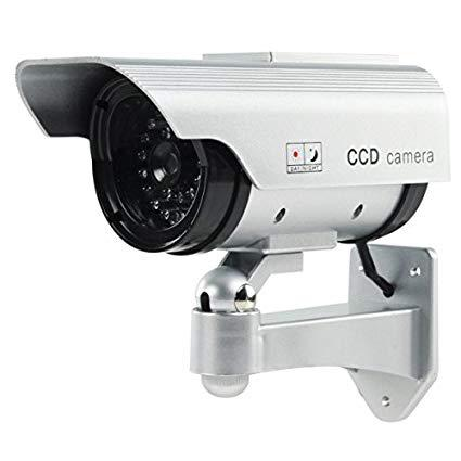 camera video surveillance factice solaire
