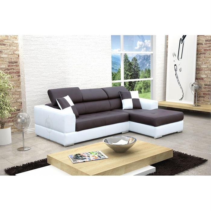 canapé d angle noir et blanc