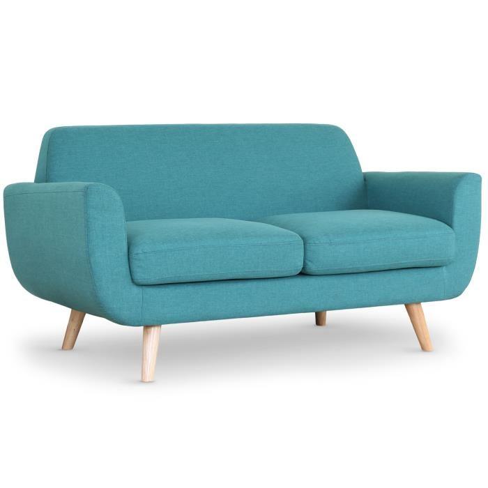 canapé scandinave bleu