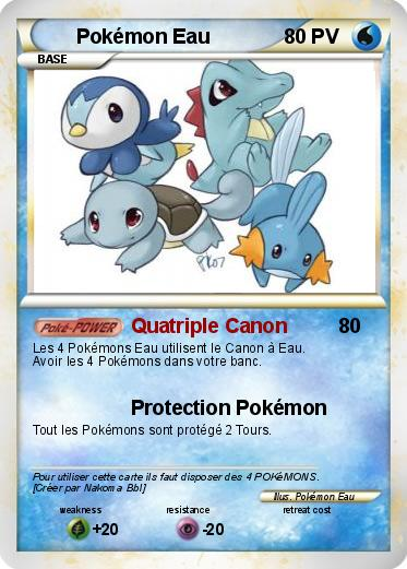carte pokemon eau