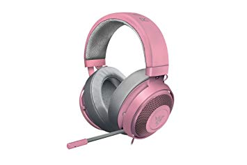 casque gamer rose