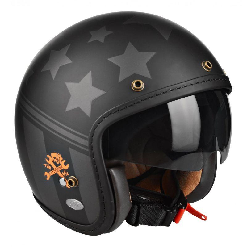casque jet biker