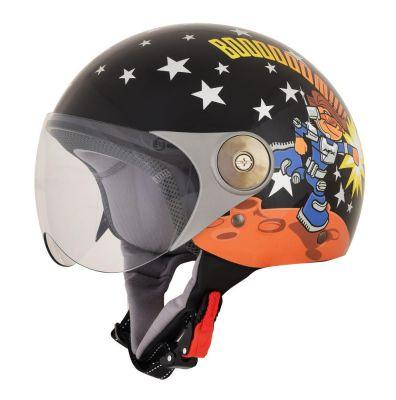 casque jet moto enfant