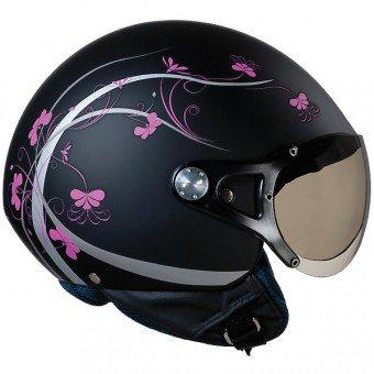 casque jet moto femme