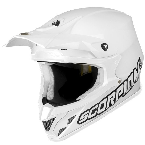 casque moto cross blanc