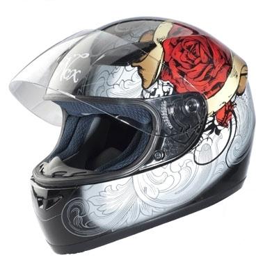 casque moto femme rouge
