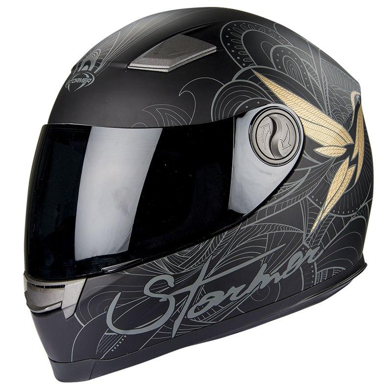 casque moto intégral femme