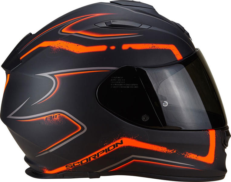 casque moto integral orange