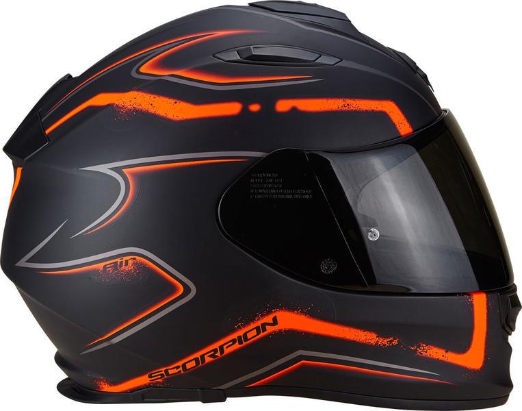 casque moto integral orange