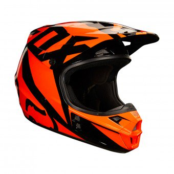 casque moto orange