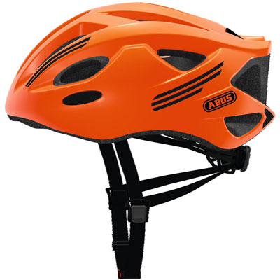 casque velo route orange