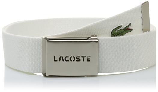 ceinture blanche lacoste