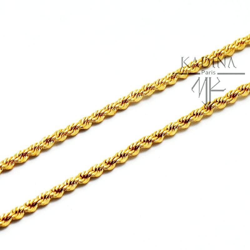 chaine plaqué or 70 cm