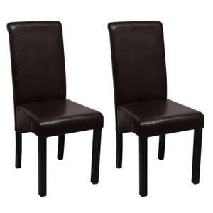 chaise en simili cuir