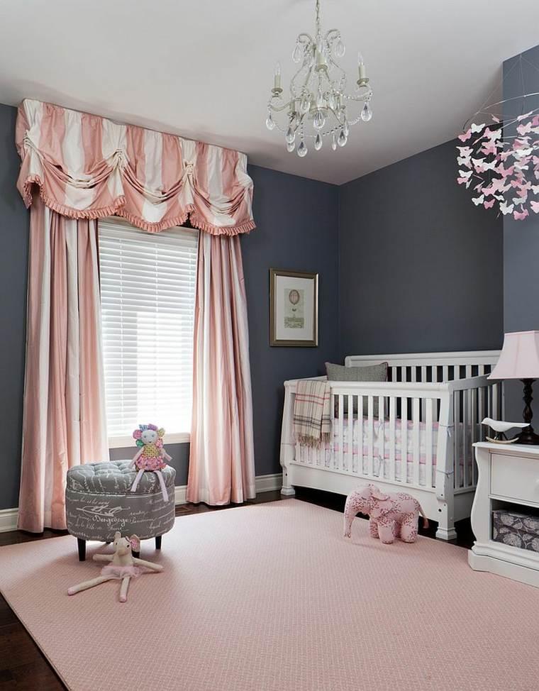 chambre bébé fille gris